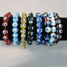 Eye glass beads 10 mm - String of 35cm