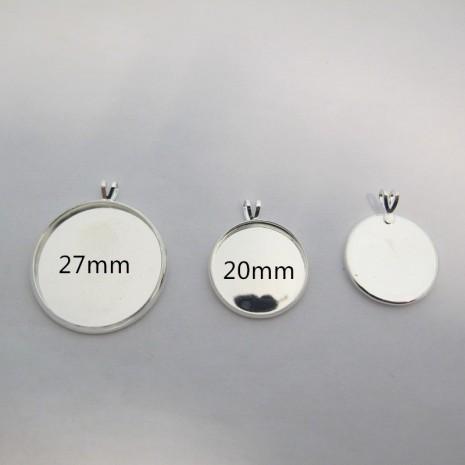 20 Support  pendentif  Pour Cachons De 20mm/27mm