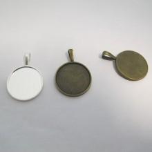 20 Support pendentif Pour Cachons De 25mm