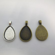 20 Drop Pendant Holder For 25x18mm Cachons