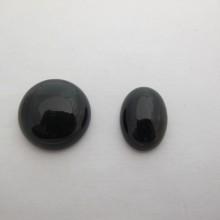 10 Cabochons black agate 20mm/13x18mm