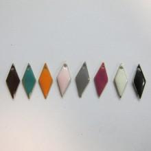 20 Enameled rhinestones 7x18mm double sided