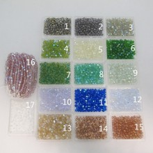 perles en verre facettes de boheme 4mm ab