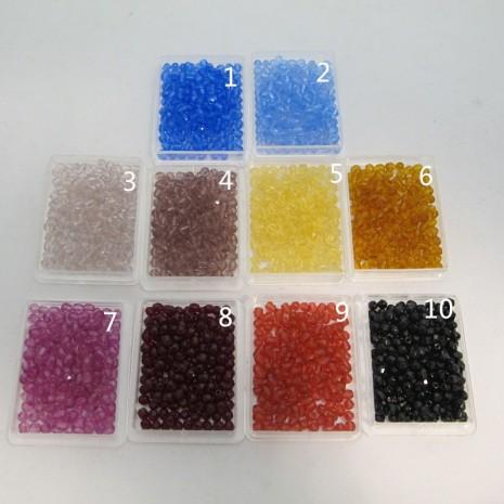 Perles En Verre Facettes De Boheme 4mm simple