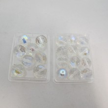 50 Glass Beads Faceted Bohemian 12mm /14mm
