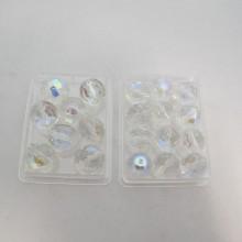 50 Perles En Verre Facettes De Boheme 12mm /14mm