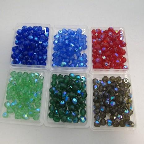 Perles En Verre Facettes De Boheme 6mm ab