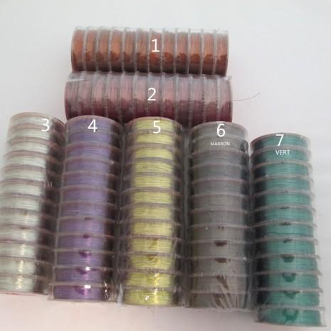 12 bobine 25mts fil laiton 0.25/0.3mm