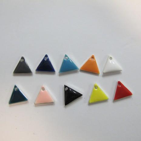 20 Sequins triangle émaillés double face