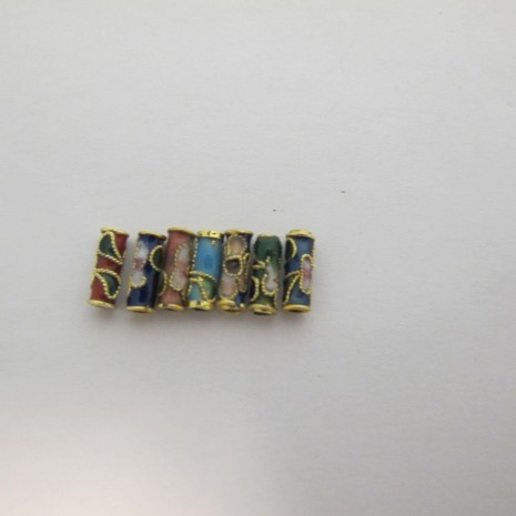 perles Cloissonée tube 10x4mm