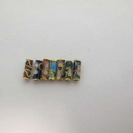 100 perles Cloissonée tube 10x4mm