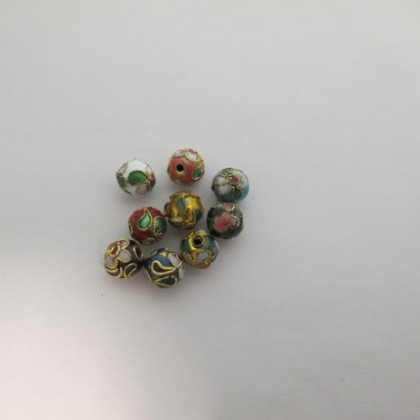 100 perles Cloissonée rond 8mm