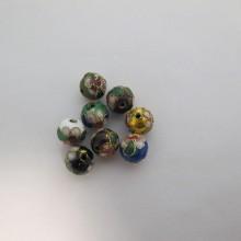 100 perles Cloissonée rond 10mm