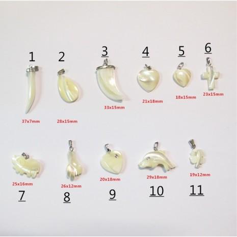 10 pendentif en nacre