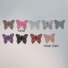 100 EStampes papillon laser cut 16x13mm