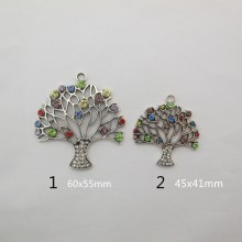 5 Pendant tree of life with strass