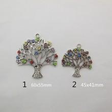 5 Pendentif arbre de la vie avec strasse