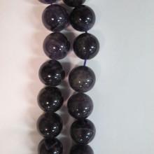amethyste ronde- Fil de 40 Centimetres