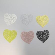 30 Laser cut heart stamp 43X43mm