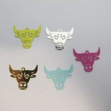 50 Stamps Ox head 20x18mm