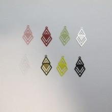 80 Diamond laser cut stamps 21x12mm