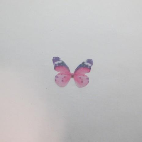 10 Pendentif papillon en tissu organza 29x21mm sans trou