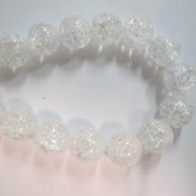 Round rock crystal - 40cm thread