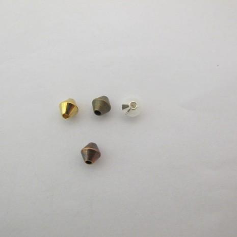 100 Perles toupi en laiton 6x6mm