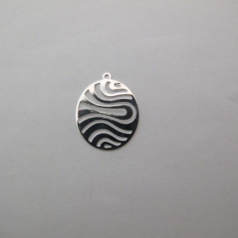 50 Pendentif  oval  23x18mm