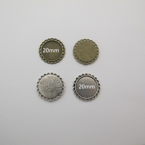 20 Support cabochon 20mm