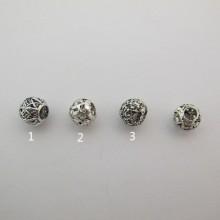 50 Metal beads 8mm hole 4mm