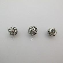 50 Metal beads 11mm hole 5mm
