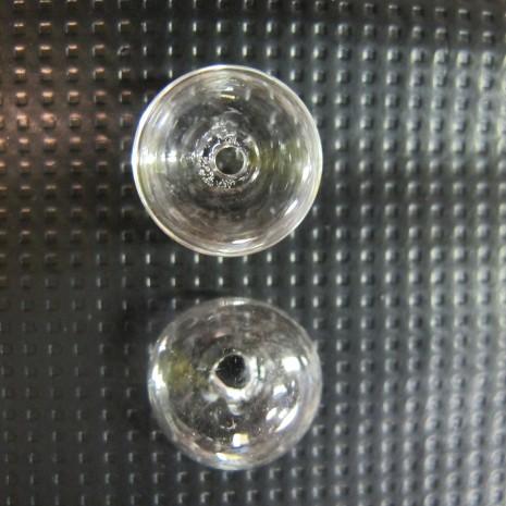 20 Boule en verre soufflé 16x10mm dôme