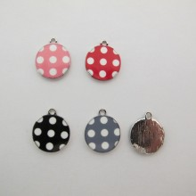 10 pcs Round Pendant with Small Point 19x15mm