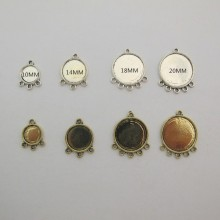 20 Cabochon holder 10mm/14mm/18mm/20mm with 3 hole/5hole