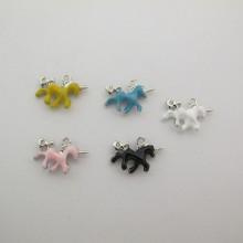 20 Metal unicorn pendants/charm double sided 20x15mm