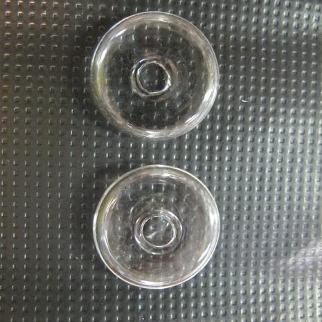 20 Boule en verre soufflé 26x8mm palet