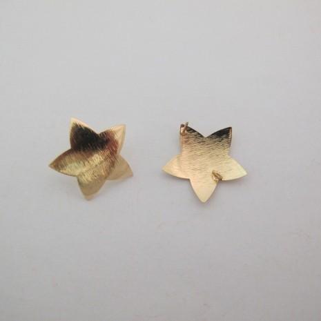 10 pcs tiges avec anneau étoile 24x24mm
