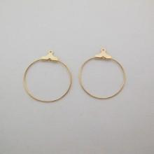 50 pcs Creole Earrings 25mm