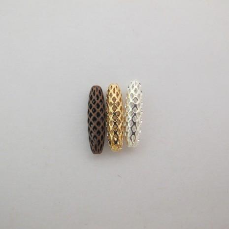 30 pcs Perles filigranées 19x5mm