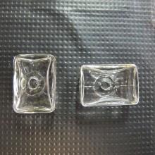20 Glass ball blown 25x17mm rectangular