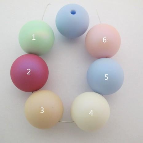 10 pcs perles en plastique 24mm trou 3mm
