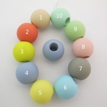 20 Pcs Perles En Plastique 24mm Trou 9mm