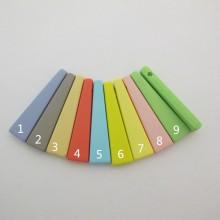 20 pcs Plastic beads 46x12mm hole 3mm