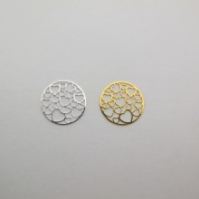 100 Estampe rond coeur laser cut 19mm