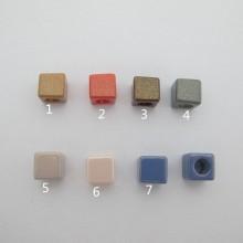 perles en plastique carré 12mm trou7mm