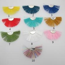 10 Fan-shaped tassels 62x33mm