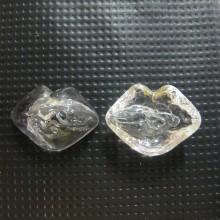 20 Glass ball blown 25x19mm mouth