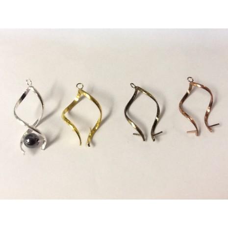 Bélière de boucle d'oreilles ou pendentifs façon toubillon