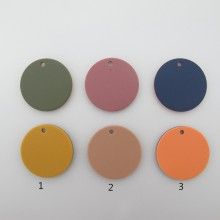 10 Sequins Résine rond deux faces colorées bicolore 35mm